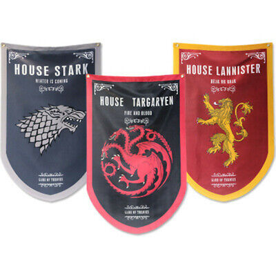 Game of Thrones Style Banner Lannister Targaryen Stark HQ Flag Man Cave Gift