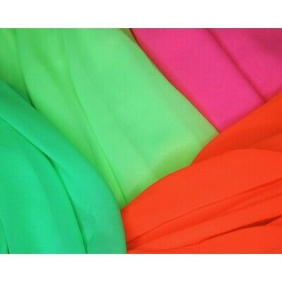 Chiffon Fabric Bright Neon Fluorescent Dress Bridal Dance Costume 145cm Wide