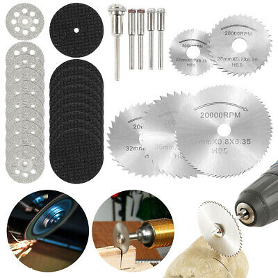 30Pcs Diamond Cutting Disc Saw Blade Grinding Wheel Set for Dremel Rotary Tool