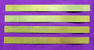 "Letterpress Printing ADANA 4 x 12"" MED. LINE BRASS RULES Strips Type High No.42"