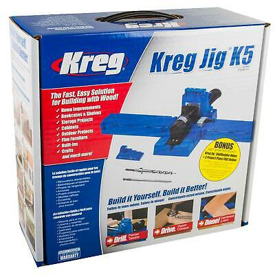 Kreg Jig Pocket Hole Joinery Kit Woodwork Joint Clamping Carpentry Tool Set K5