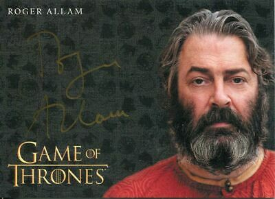 Game Of Thrones Inflexions Gold Autograph Card Roger Allam as Magister Illyrio