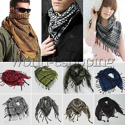 Mens Womens Keffiyeh Shemagh Army Military Tactical Arab Desert Scarf Head Wraps