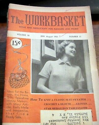 Lot of 64 Vintage Workbasket Magazines   1950-1990