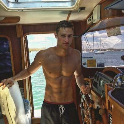Shirtless Male Muscular Beefcake Boat Hunk Handsome Man Guy PHOTO 4X6 F1892