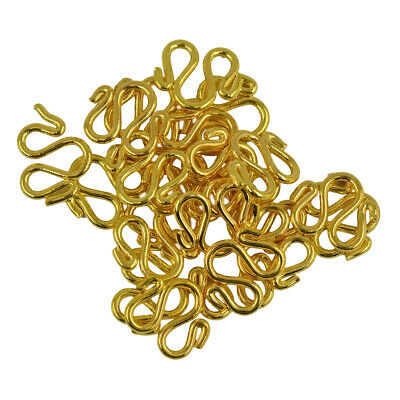 20 sets Gold Plated Brass Bali Wire W Hook Clasps Woman Nacklace DIY Making