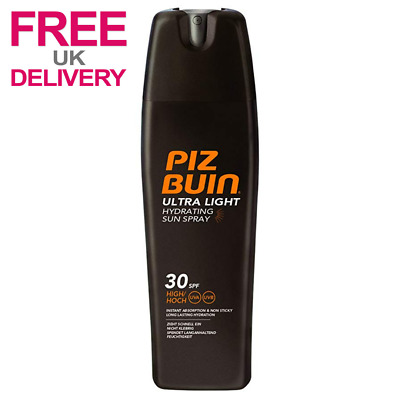 Piz Buin Sun Ultra Light Sun Spray SPF 30 Instant Absorption & Non Sticky 200ml