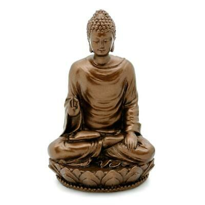 "BUDDHA STATUE 3"" Small Buddhist Sakyamuni Icon Figurine Bronze Color Resin NEW"