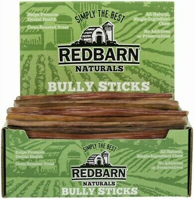 100 Count 12 inch RedBarn STEER Bully Sticks Dog Dental CHEWS Tags FRESH Natural