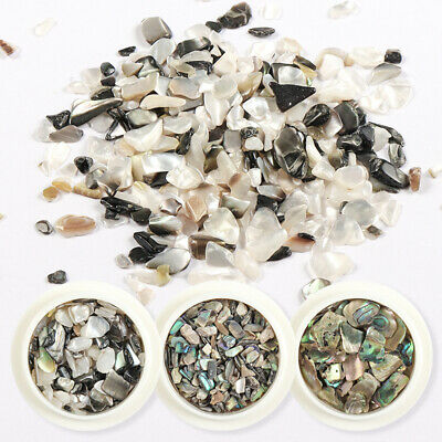 Nail Art Irregular Marble Shell Slice Sequin Flakes Crushed Stone Decor Manicure