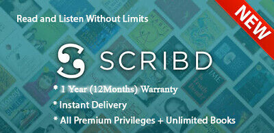 NEW Scribd Premium Account 1 Year (12 Months) Warranty - Pers - Instant Delivery