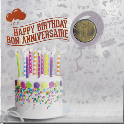 2017  Happy Birthday Gift 5-coin Set, specially struck $Loonie, Sealed ,Unc.