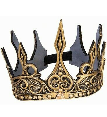 Silver Glitter Sparkle Crown ~KING QUEEN PRINCE PRINCESS COSTUME BIRTHDAY PARTY