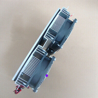20A 4 Cooling Fan Cold Plate Semiconductor Refrigeration Radiator Thermoelectric