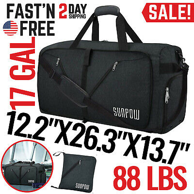 Duffle Bag Travel Mens Womens Overnight Sports Gym Large Weekender Waterproof