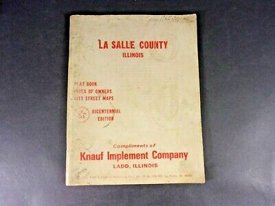 LA SALLE COUNTY, ILLINOIS Plat Book-Index of Owners-City Street Maps 1975 Ed.