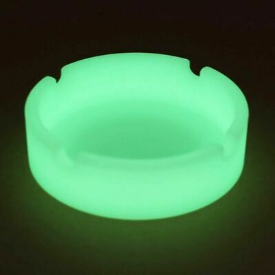 Glow In The Dark Luminous Silicone Ashtray for Smoking Cigarette Cigar Pipe