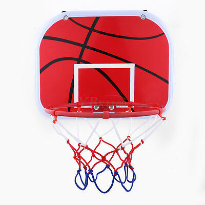 Hanging Mini Basketball Hoop Kit For Indoor Outdoor Kids Game Toy W/ Air Pump#GD
