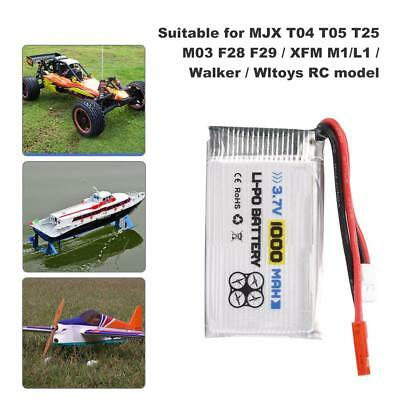 For Car/Boat ENGPOW 3.7V 1000mAh 25C JST Plug Rechargeable RC LiPo Battery #GD