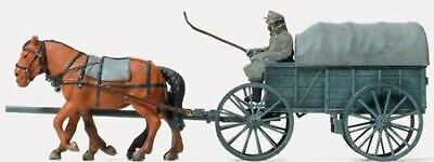 Preiser Ho Scale 1/87 Horse Drawn Wagon With Figures | Bn | 16570