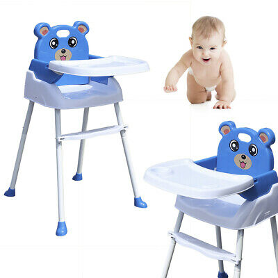 Baby Highchair 4 IN 1 Infant Feeding Seat Toddler Table Chair Height Adjustable