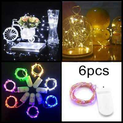 6/10 Pack 20 LED Battery Micro Rice Wire Copper Fairy String Lights Party 2M New