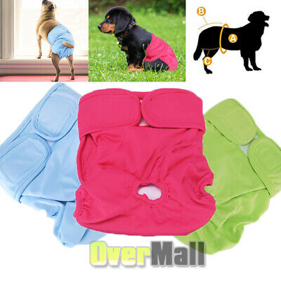 Reusable Washable Dog Diapers (3 Pack) Dog Wraps for Female Dogs Durable Premium