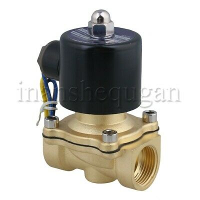 "2 Way Normally Closed Solenoid Valve DC12V  3/4"" Pipe for Air Water Oil"