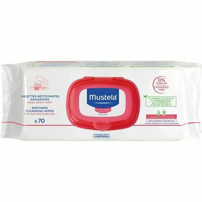 Mustela Soothing Cleansing Wipes for Very Sensitive Skin 70 Wipes