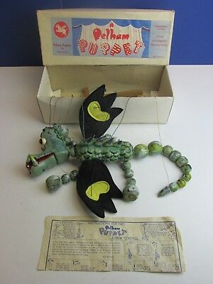 rare VINTAGE PELHAM PUPPET MOTHER DRAGON boxed MARIONETTE early box 51X