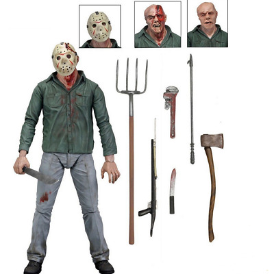 """Friday the 13th Part IV 3D JASON VOORHEES 7"""" Scale Ultimate Action Figure"""