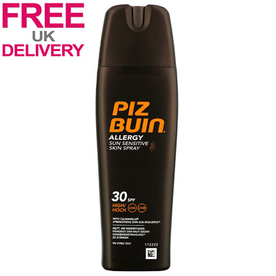 Piz Buin Allergy Sun Sensitive Skin Spray High SPF30 200ml FAST & FREE Delivery