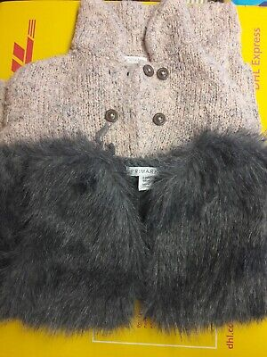 2 x Girls faux fur gilet  and jacket age 3/4 years