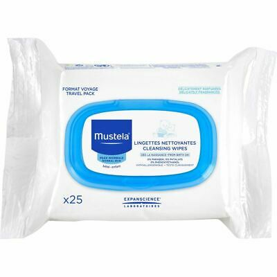 Mustela Cleansing Wipes for Normal Skin 25 Wipes