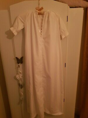Antique Christening Gown White Cotton Vintage Wedding Dress Edwardian Child