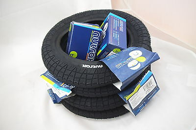 4 Pram Tyres & Bent Valve Tubes 12 1/2 X 2 1/4 (57-203) Most Common Pram Size