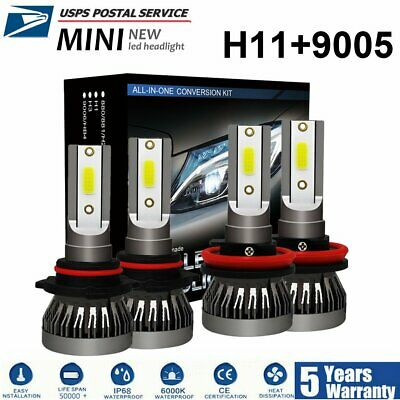 9005 + H11 3830W 574500LM Combo CREE LED Headlight Kits High Low Beam Bulb 6000K