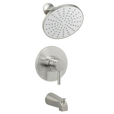 Miseno MTS-550425-S Nickel Mia Tub and Shower Trim Package with Single Function