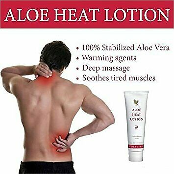 2 X Forever Living Aloe Heat Lotion