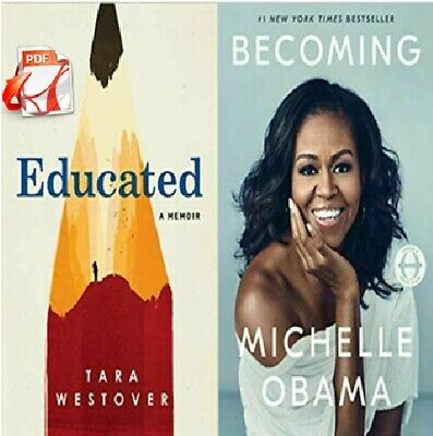 Educated: A Memoir by Tara Westover + Becoming By Michelle Obama BEST OFFRE