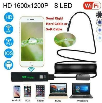 Multifunction Pipe Car Endoscope HD WiFi Inspection Camera For iPhone/Android/PC