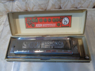 Vintage Koch Chromatic Harmonica made in Germany