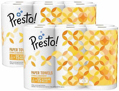 Full-Sheet Paper Towels, Huge Roll, 12 Count by Presto!