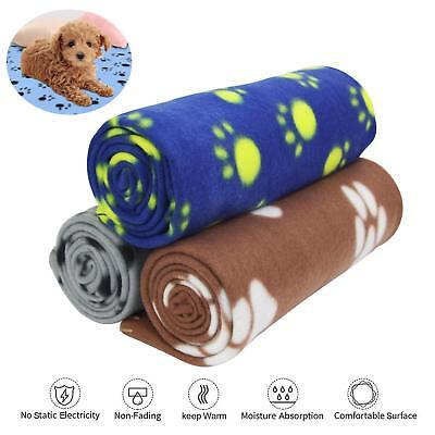 3pcs Pet Cat Dog Mat Sleep Bed Pad Cushion Paw Puppy Fleece Soft Blanket Warm