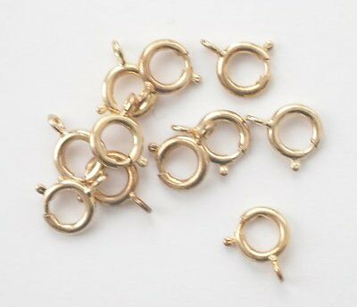 20 gold plated 9mm bolt rings, findings for jewellery making crafts