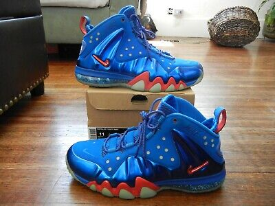 8759f2f2e91 2013 Nike Air Barkley Posite Max Sixers 76Ers Energy/Fire Sz 11 Used 555097-