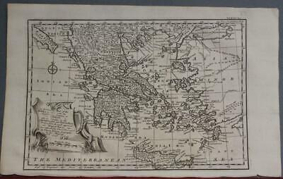 Greece Macedonia Balkan Countries Albania 1747 Bowen Antique Copper Engraved Map