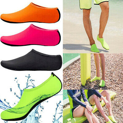 Men Women Slip on Water Shoes Beach Swim Diving Wetsuit Surf Solid Aqua Socks