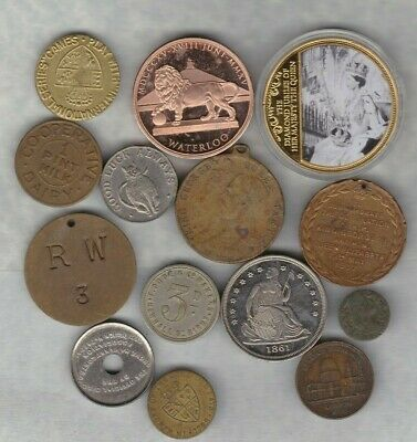 14 Various Commemorative Medals In Average Very Fine Condition