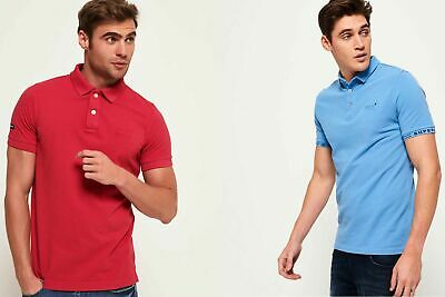 New Mens Superdry Polo Shirts Selection - Various Styles & Colours 0606